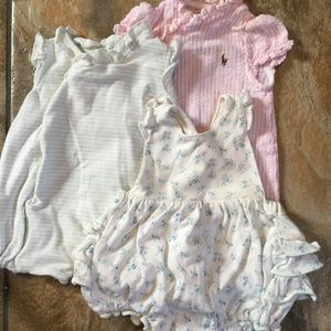 Set of 3 Ralph Lauren 3m Rompers